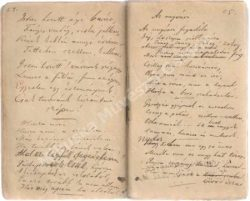 manuscript of poetry booklet