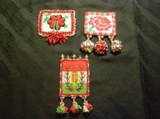 Bead embroidered badge